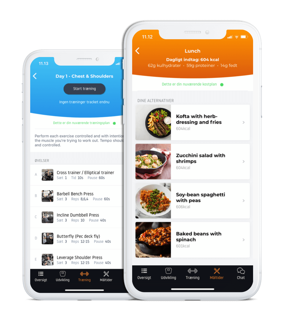 App - Meal & Workout Plans